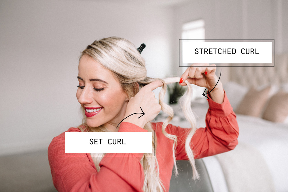 How to create different curls with a curling wand by twistmepretty.com