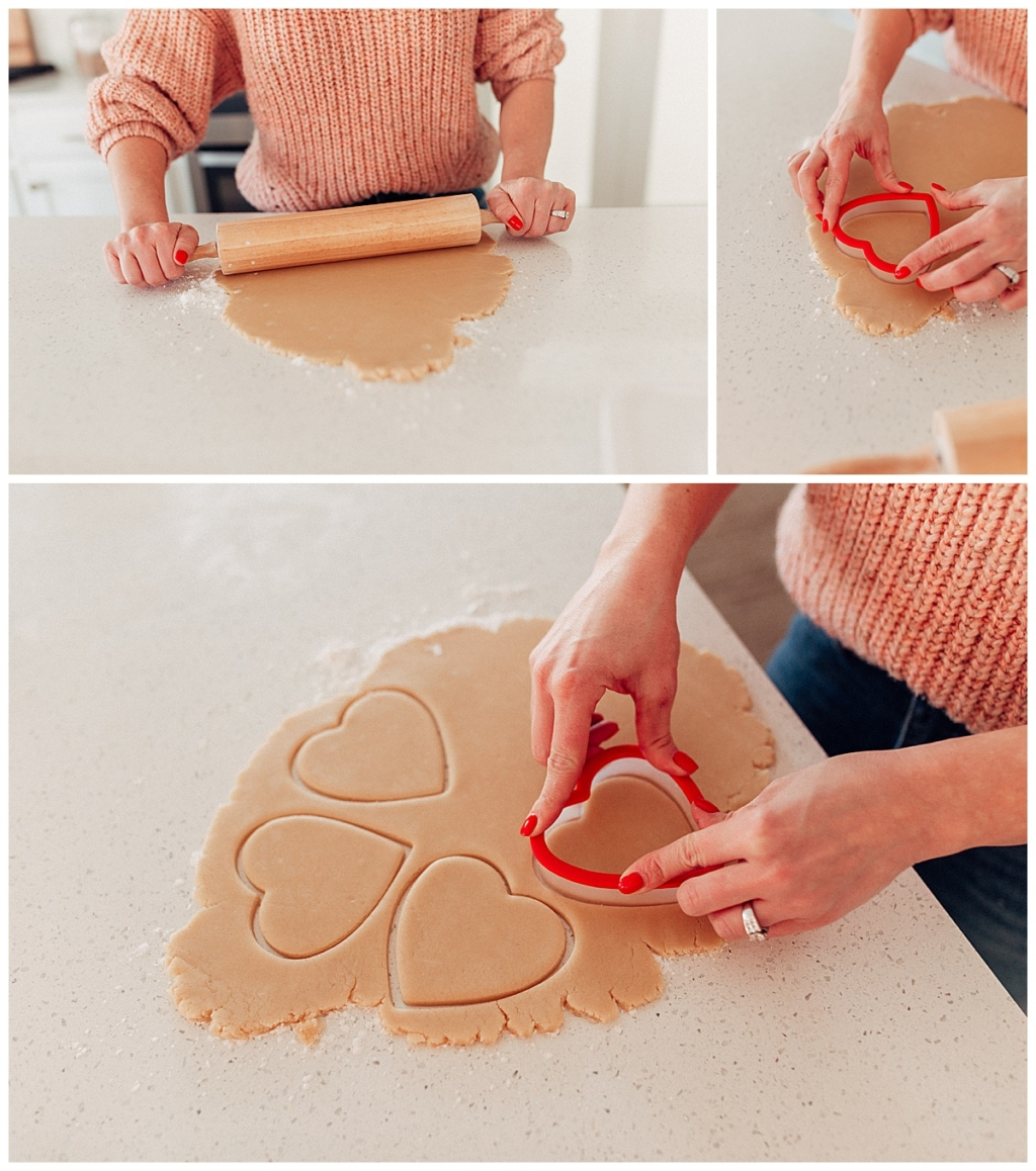3 failproof ways to frost Valentines Sugar Cookies rolling out sugar cookies with twistmepretty.com