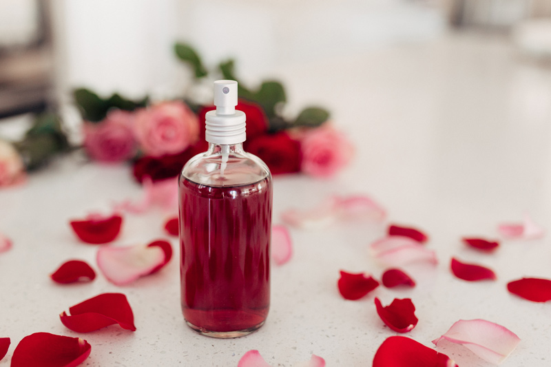 DIY Rose water how to use your leftover roses from valentines day with twistmepretty.com a step by step guide