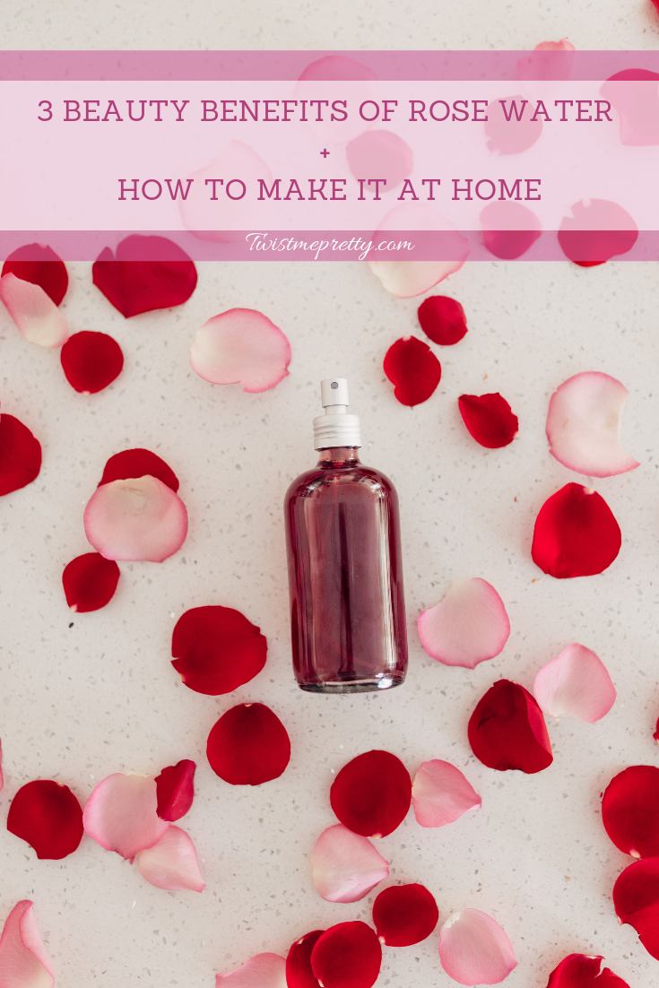 DIY Rose water how to use your leftover roses from valentines day with 3 beauty benefits of rose water and how to make it at home twistmepretty.com a step by step guide