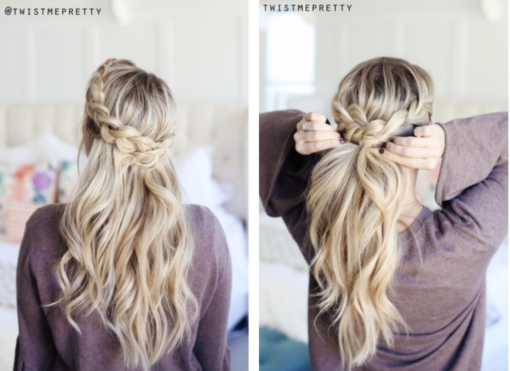 9 Quick Hairstyles for Valentines Day - Style Round-how to do a crown braid with twistmepretty.com