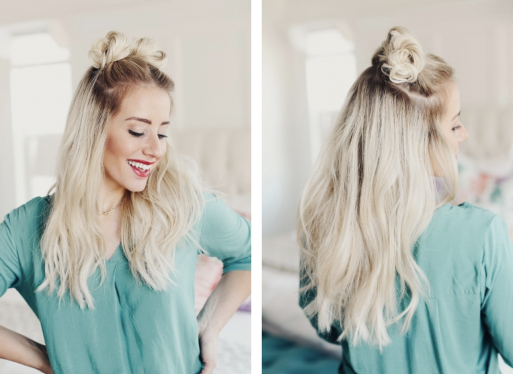 9 Quick Hairstyles for Valentines Day - Style Round-Up double buns tutorial with twistmepretty.com