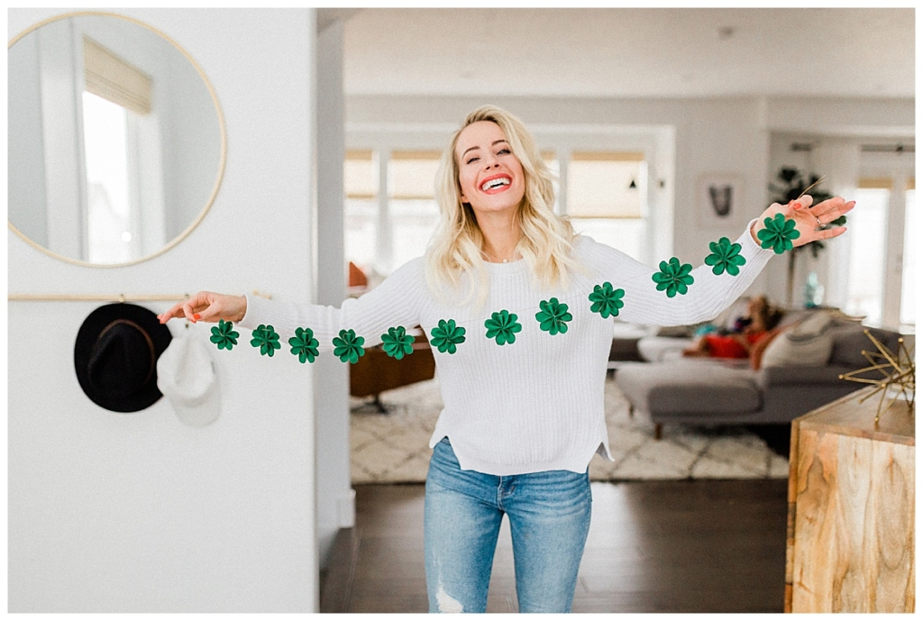 St Patrick's Day Shamrock Banner DIY a step by step instructions by twistmepretty.com