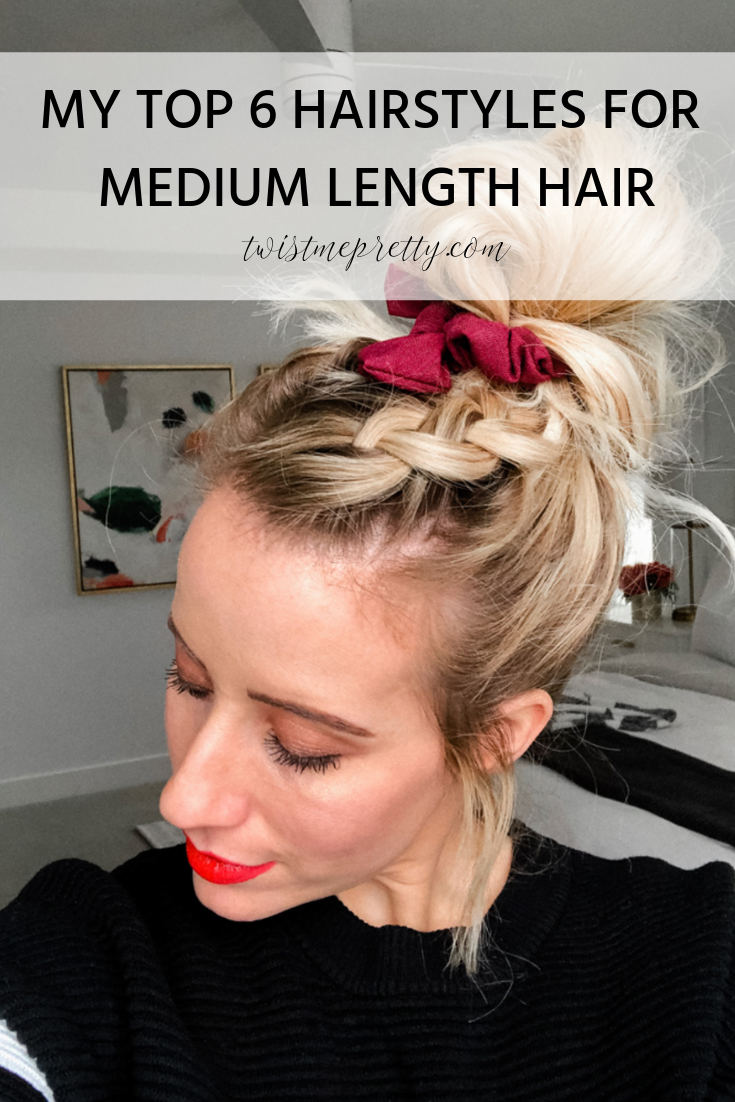 Medium length hairstyles 6 ways to style medium length hair with video tutorial from www.twistmepretty.com