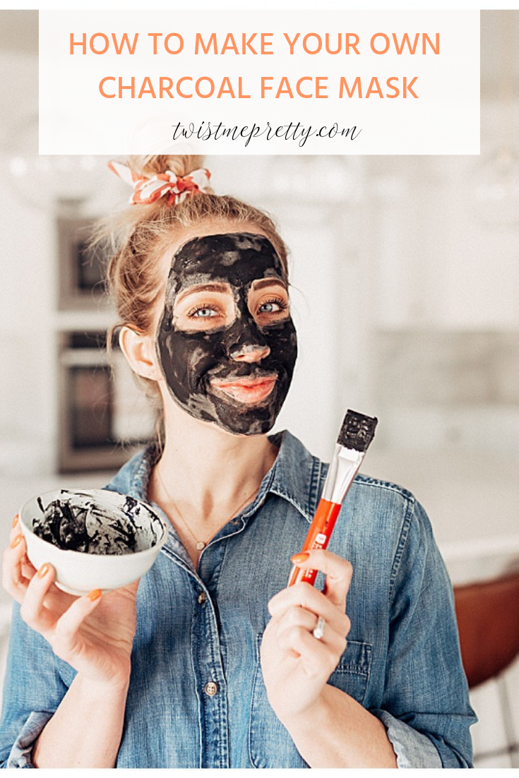 DIY Charcoal Face Mask 4 ingredient step by step with twistmepretty.com