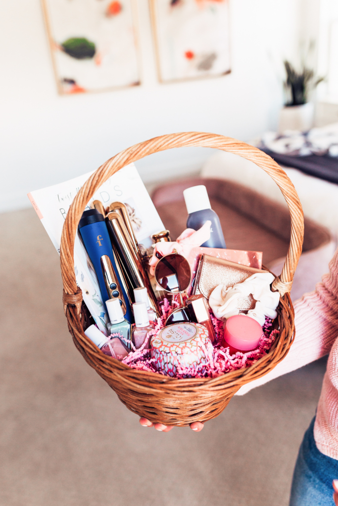 Easter Basket Ideas for women Easter basket ideas for grownups with www.twistmepretty.com