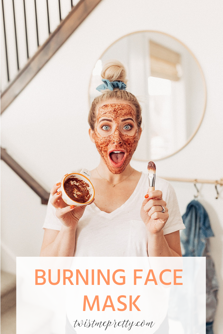 How to make a burning face mask with twistmepretty.com