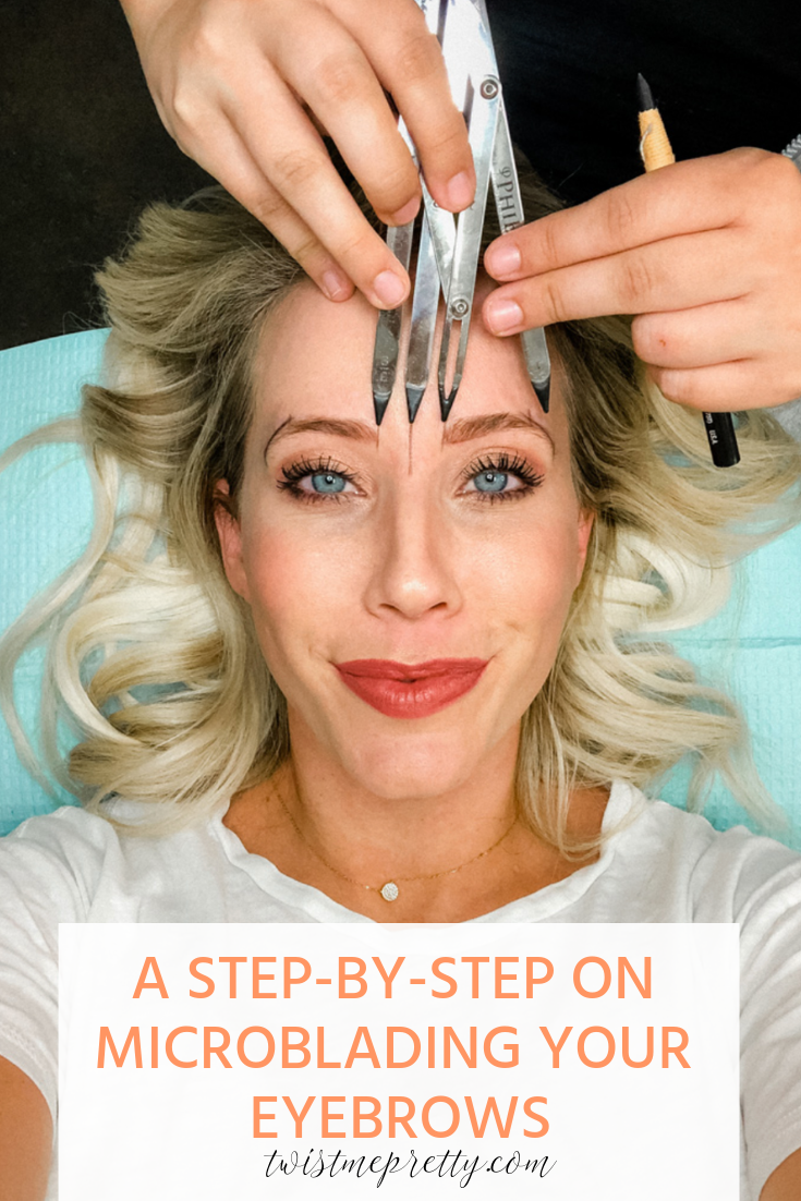 Everything You Need To Know About Microblading step by step on microblading your brows with www.twistmepretty.com