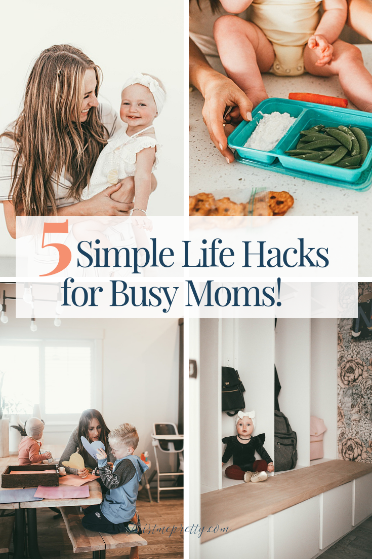 These are such simple and easy ideas to make life easier from TwistMePretty.com #momhacks #lifehacks #productivity #motherhood