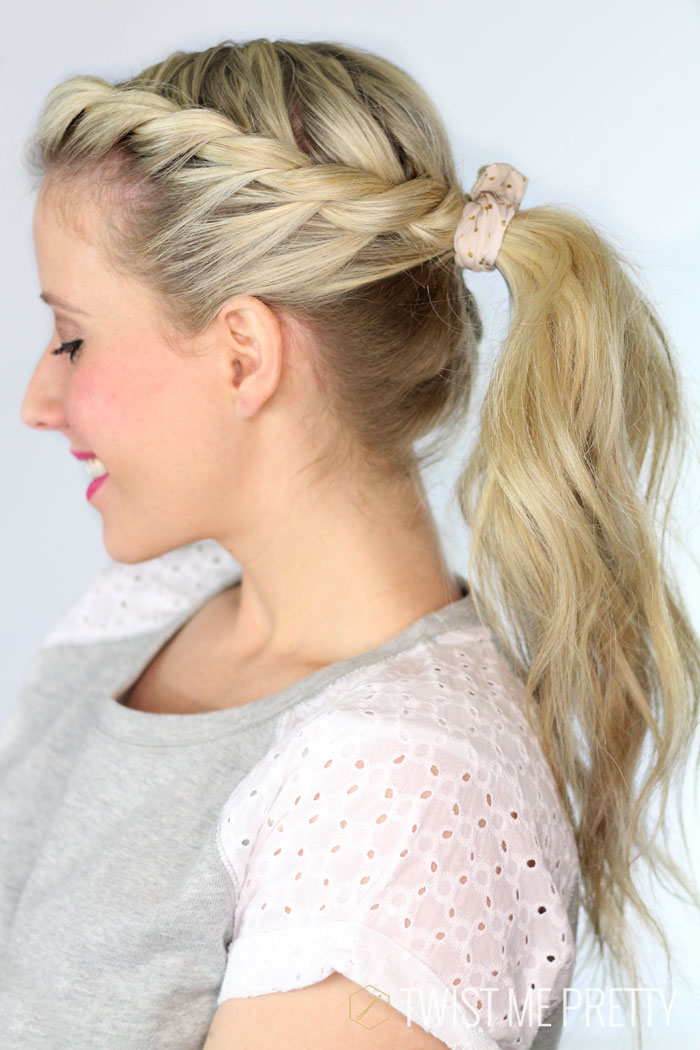 This pretty hairstyle is perfect for summer from Twistmepretty.com