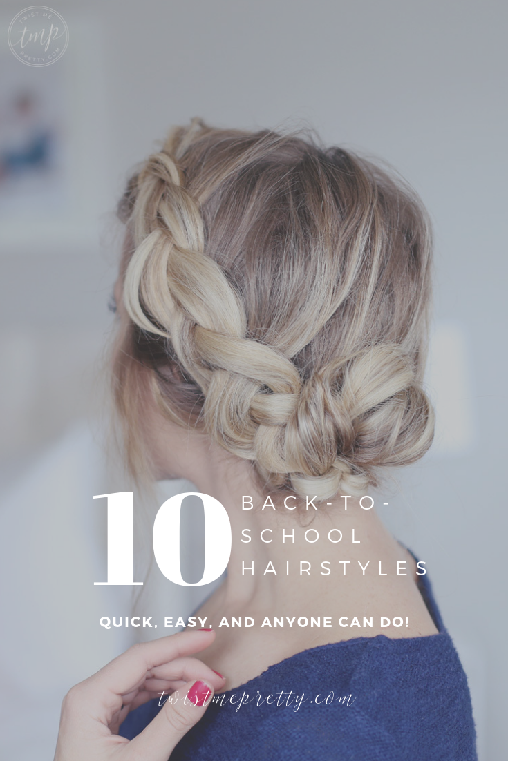 10 Quick & Easy Back to School Hairstyles to Let You Sleep In Later or make your mornings run smoother from Twistmepretty.com. I love the day-to-night!