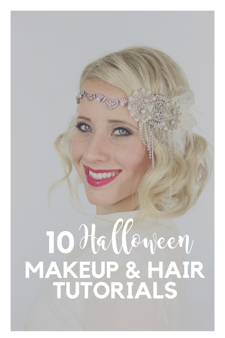 Halloween makeup and hair tutorials for cute and modest Halloween costumes that will fit in your budget!  #diy
