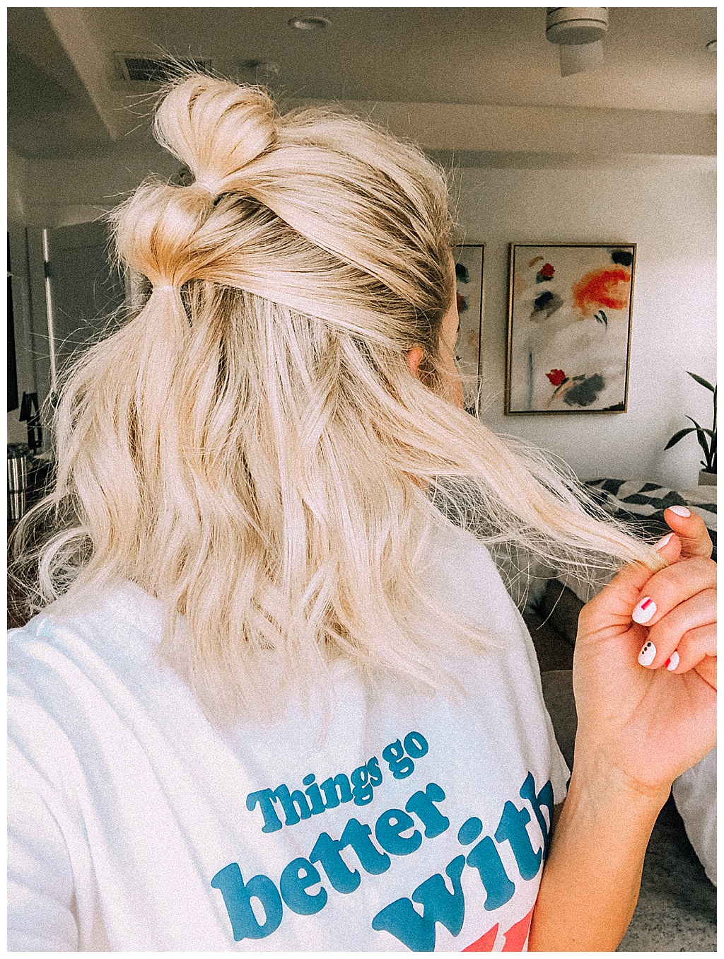 If you've been stuck in a hairstyle rut then you are going to love this triple bubble ponytail. It's simple and stylish and works even better on second or third day hair.