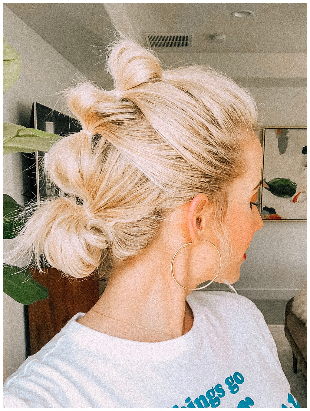 If you're looking for an easy hairstyle!