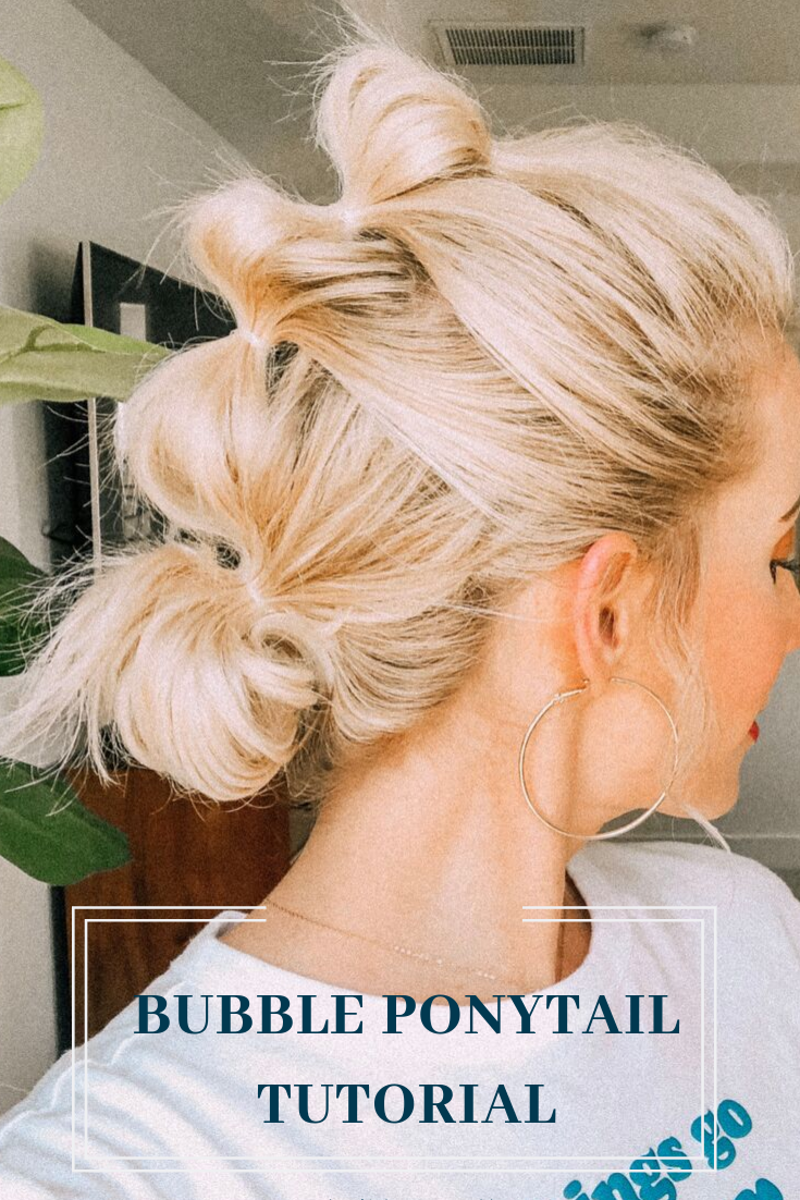 Bubble ponytails are so much fun, easy, and fast!