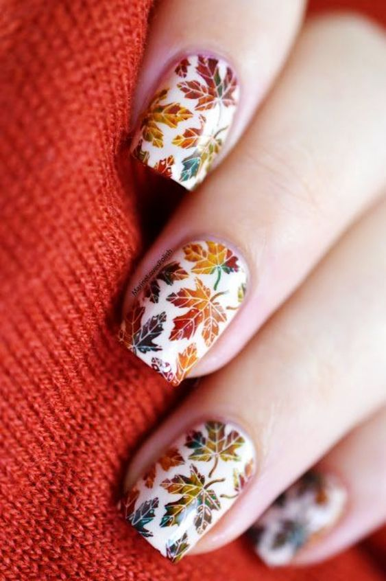 Love all of the Fall floral gel nail inspiration. These are gorgeous and the tutorial actually makes them seem easy!