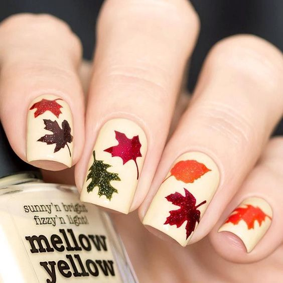 Another great DIY Fall floral gel nail inspiration. These are gorgeous and the tutorial actually makes them seem easy!