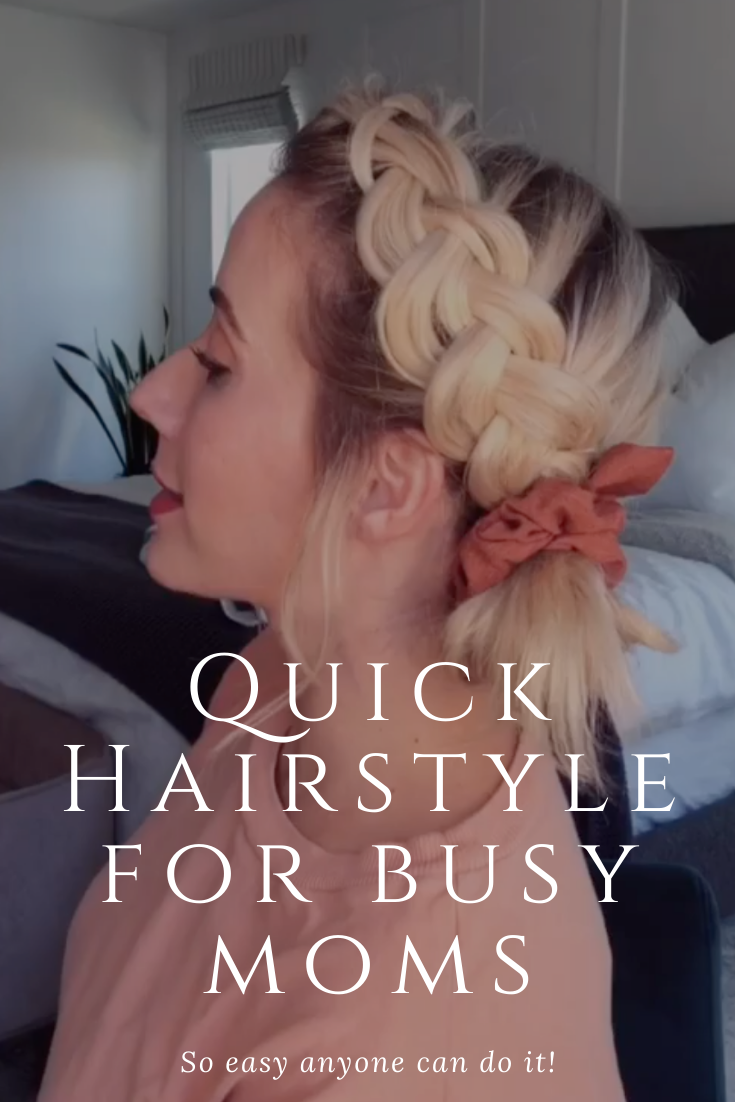 A simple and quick perfect for an easy mom hairstyle!