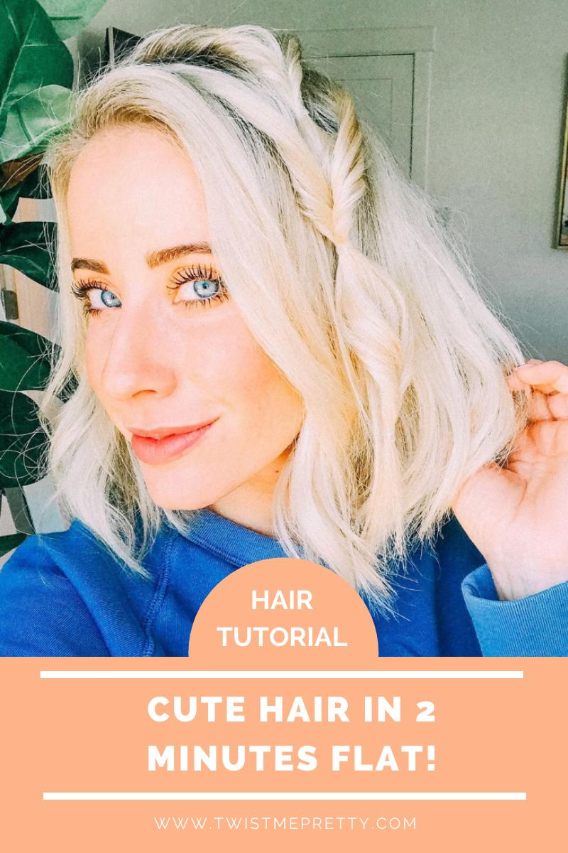 Hair Tutorial: Cute Hair in 2 Minutes Flat. www.TwistMePretty.com
