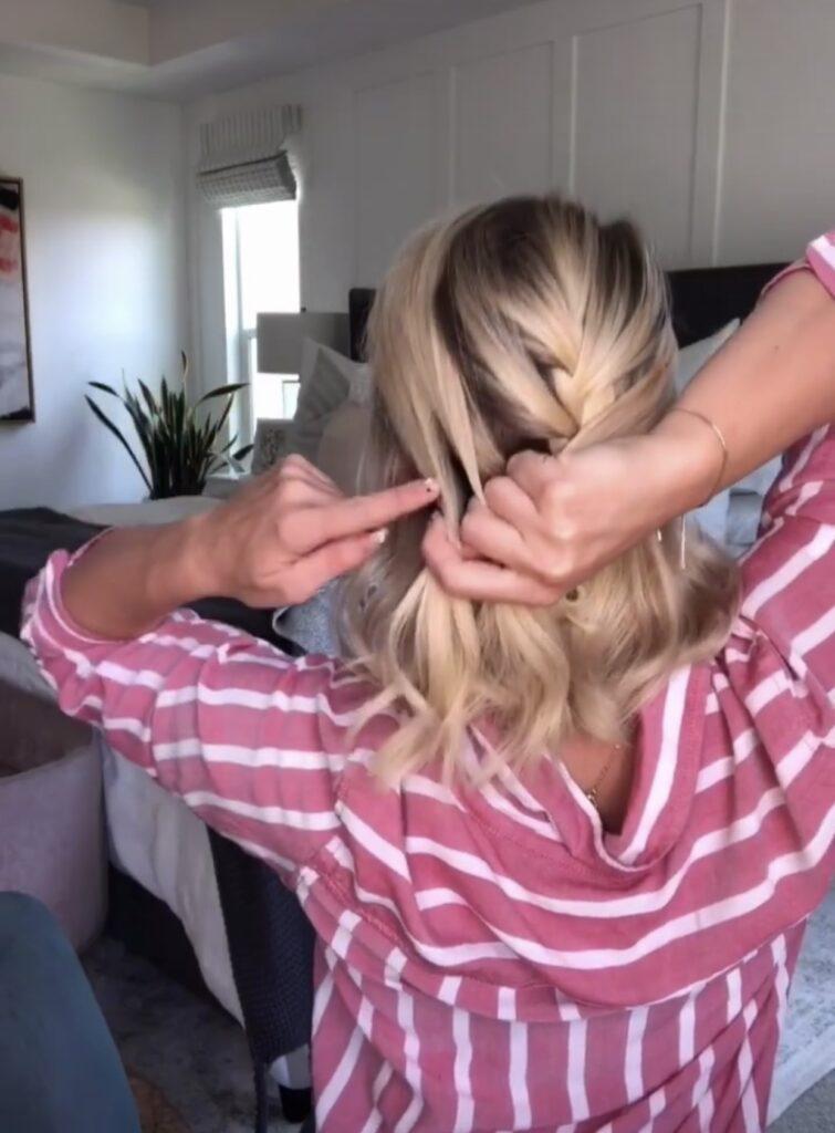 It's easy to add a second braid! Easy double braid hair tutorial. www.twistmepretty.com