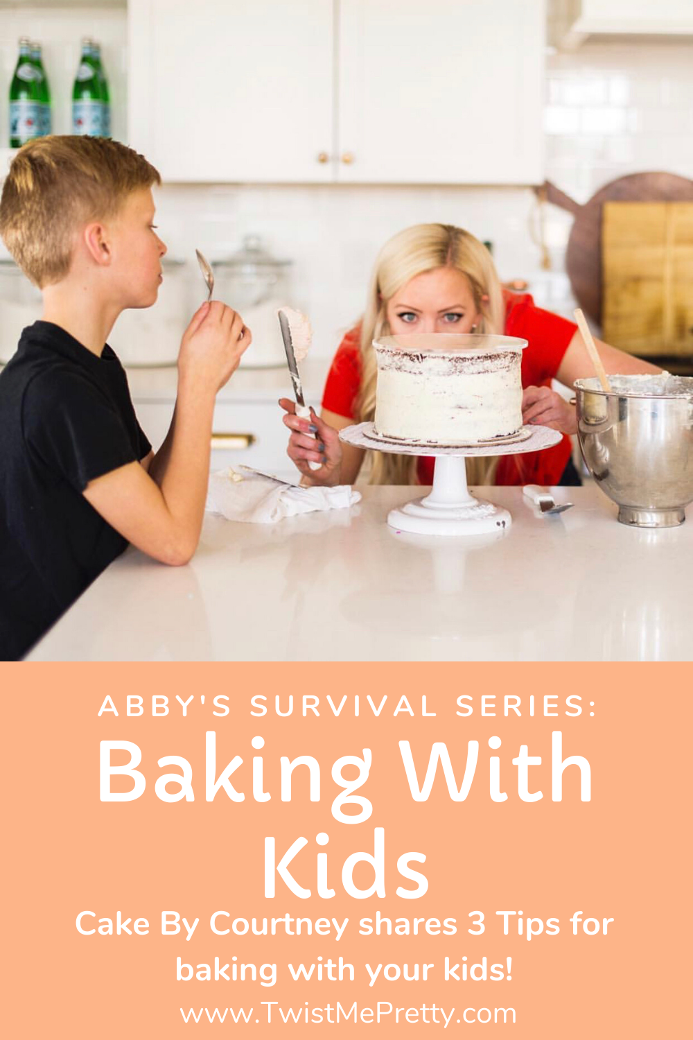 Abby's Survival Series: Baking With Kids- 3 tips for baking with your kids from Cake By Courtney. www.TwistMePretty.com