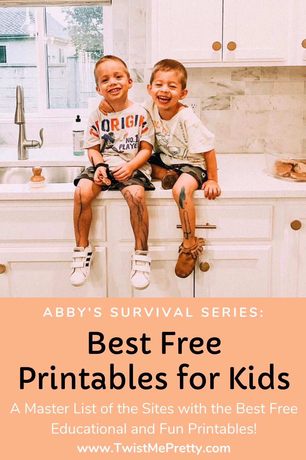 Abby's Survival Series- Best Free Printables for Kids. www.TwistMePretty.com