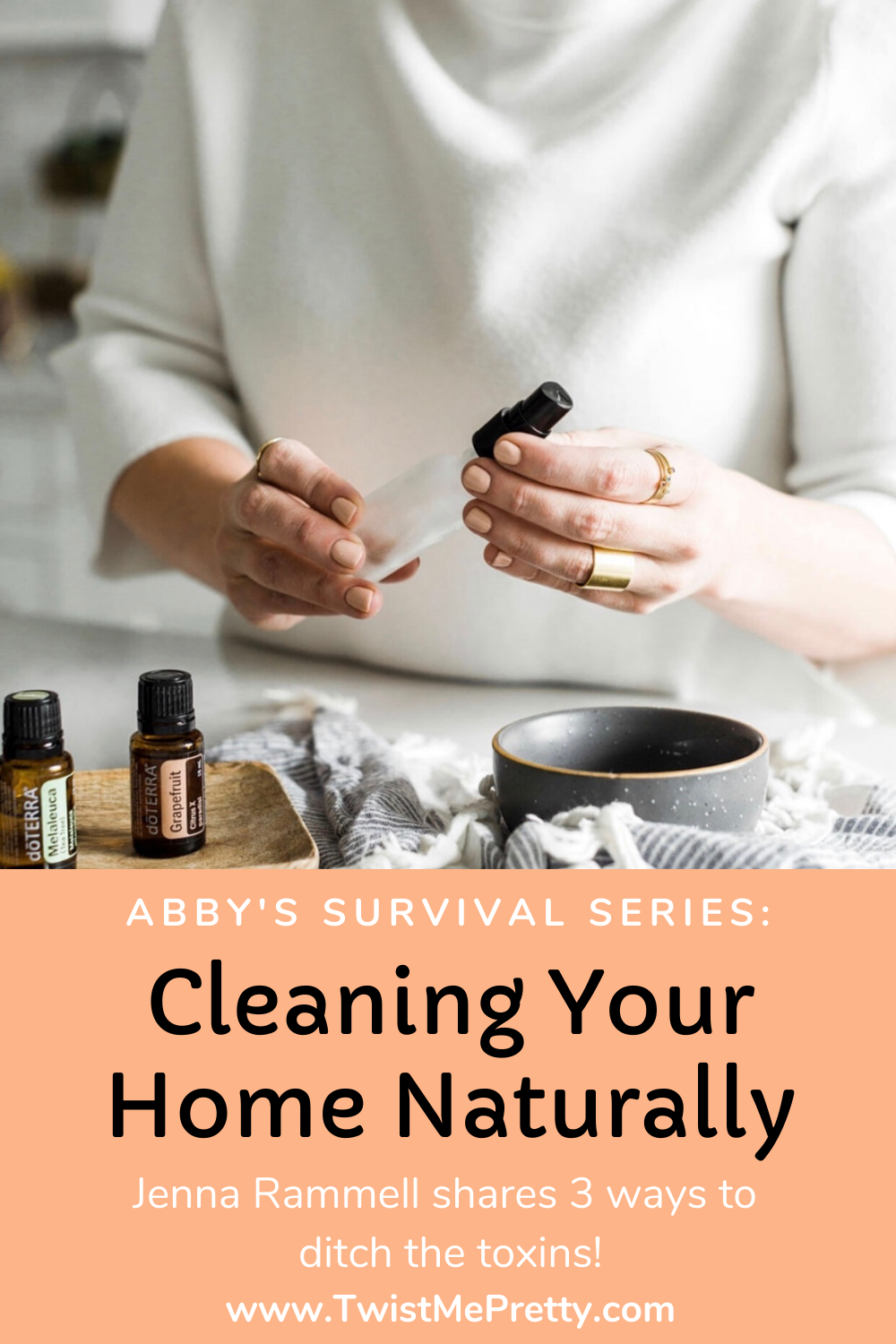 Abby's Survival Series: Cleaning Your Home Naturally. Jenna Rammell shares 3 ways to ditch the toxins. www.TwistMePretty.com