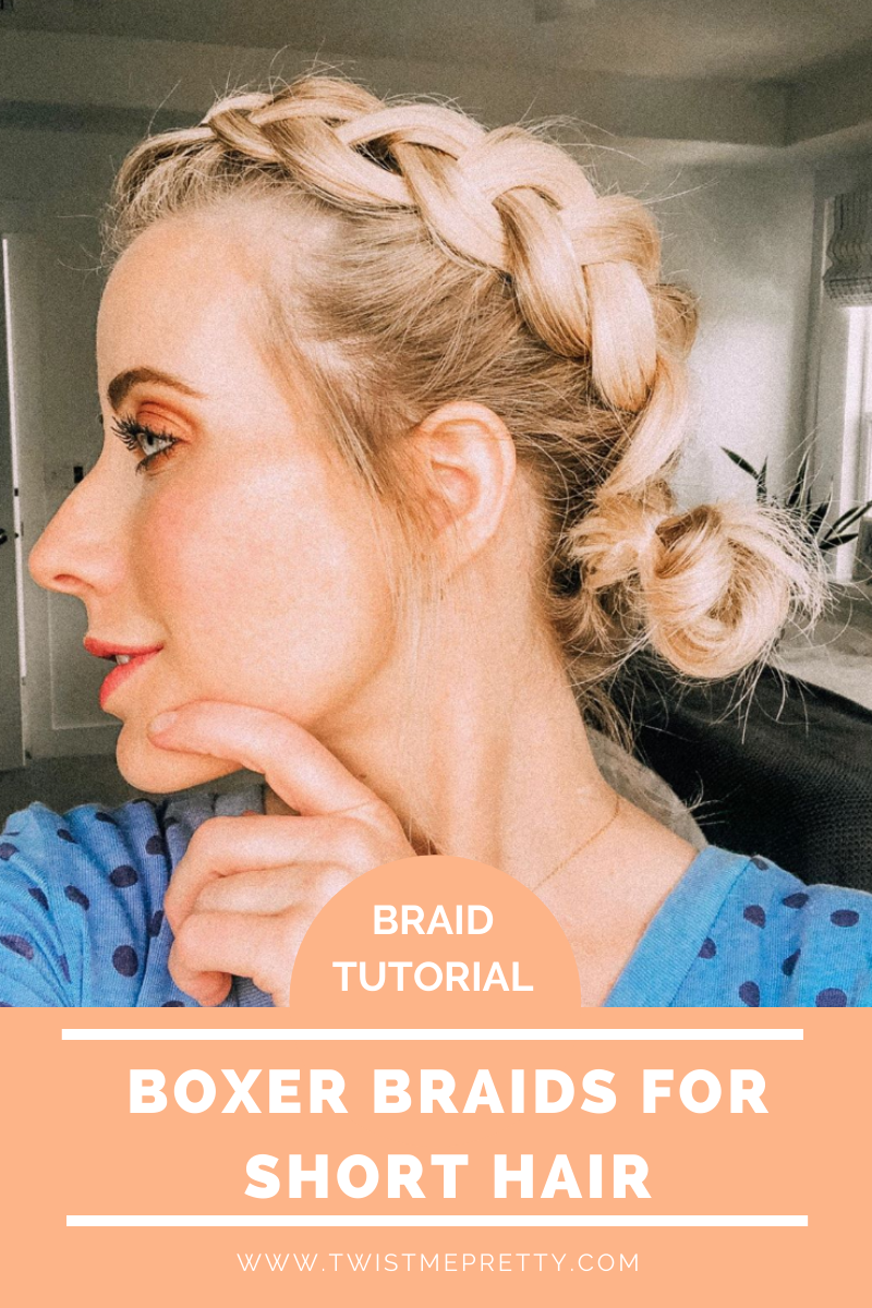 Braid Tutorial: Boxer Braids for Short Hair. See how easy it is to get this look! www.TwistMePretty.com