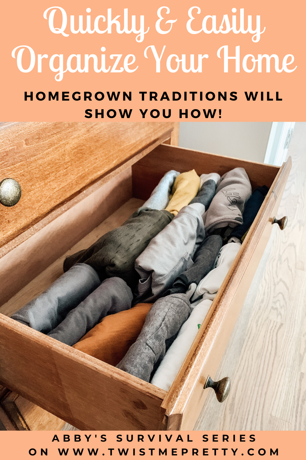 Quickly & Easily Organize Your Home by Homegrown Traditions. www.TwistMePretty.com