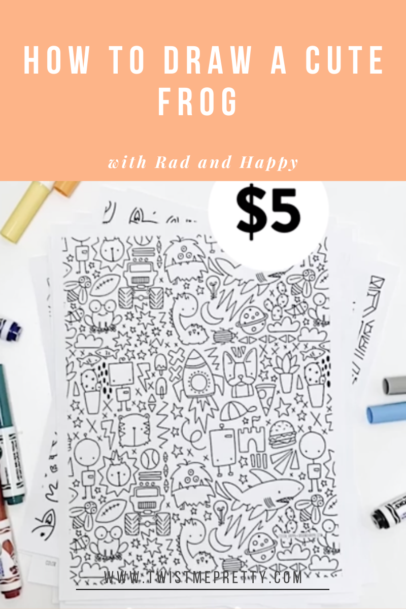How to draw with kids with Rad and Happy free color sheets