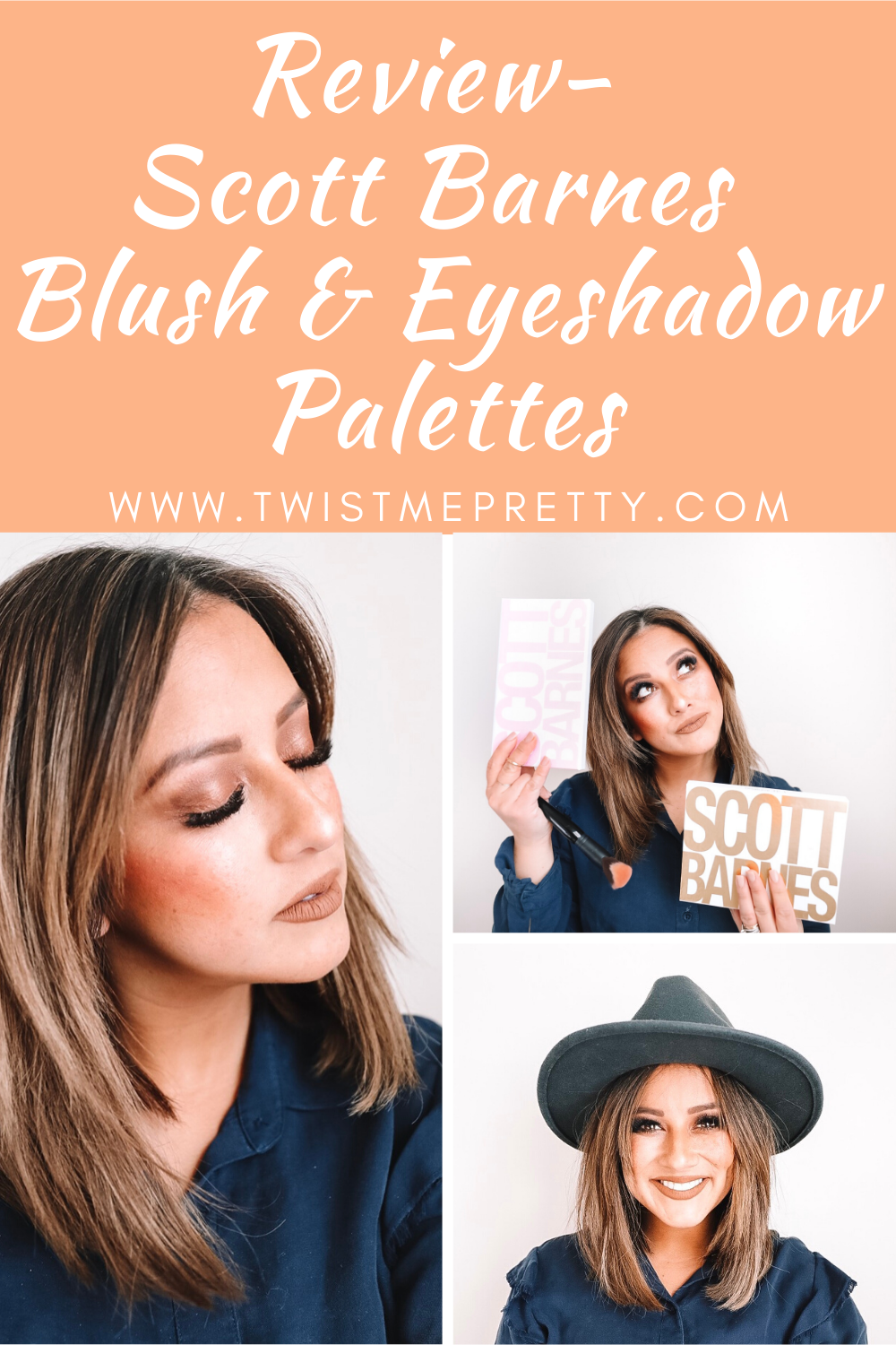 Review- Scott Barnes Blush & Eyeshadow Palettes www.TwistMePretty.com