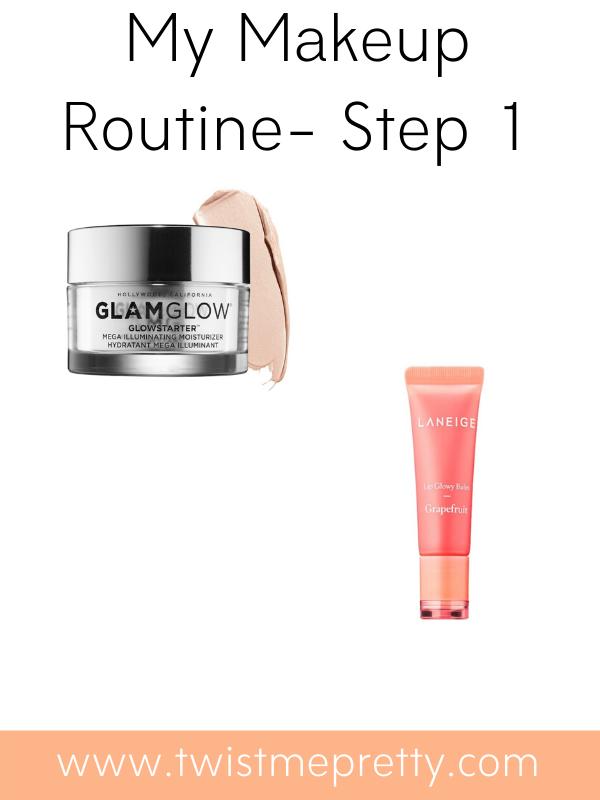 My makeup routine--moisturizers. www.twistmepretty.com