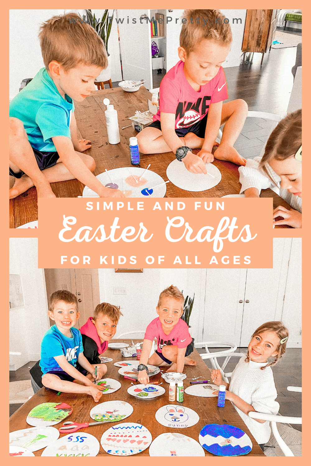 Simple and Fun Easter Crafts For Kids of all ages. www.twistmepretty.com