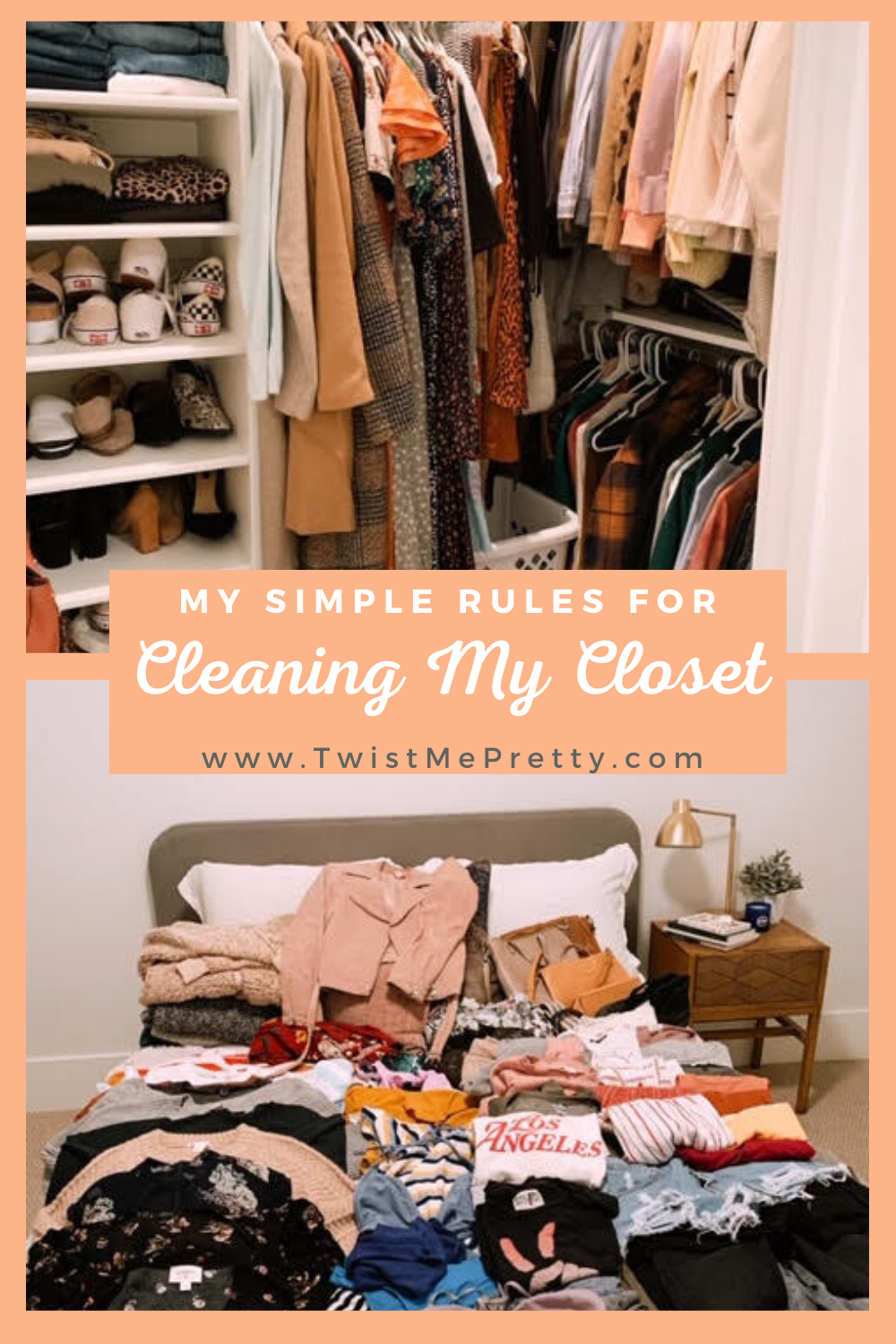 My simple rules for cleaning my closet each season. www.twistmepretty.com