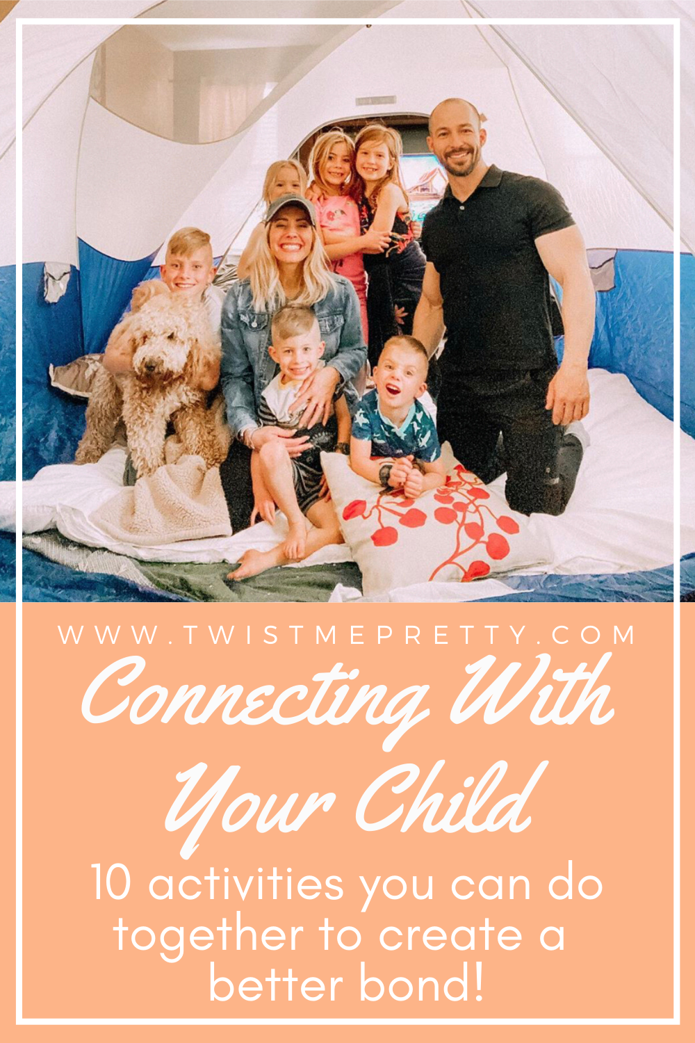 Connecting with your child. 10 activities you can do together to create a better bond! www.twistmepretty.com