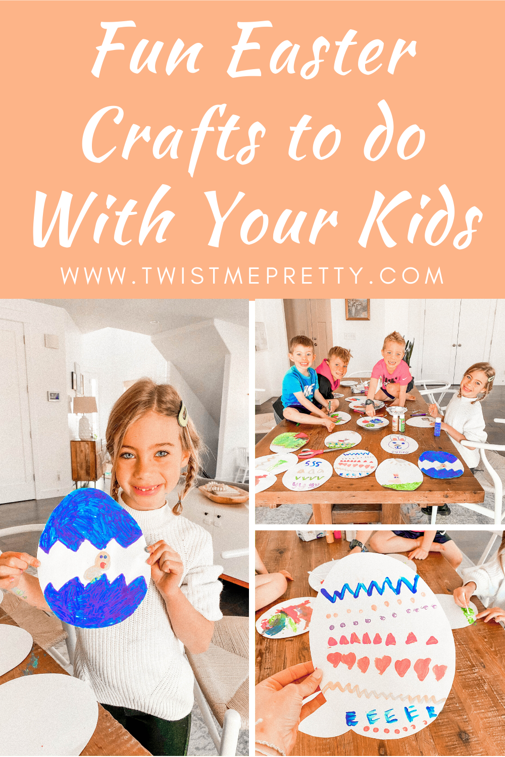 Fun Easter Crafts to Do with Your Kids www.TwistMePretty.com