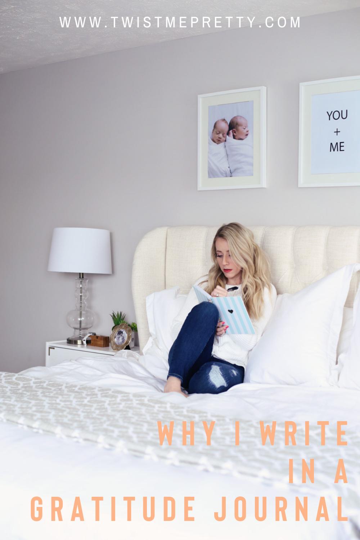 Why I write in a gratitude journal. www.twistmepretty.com