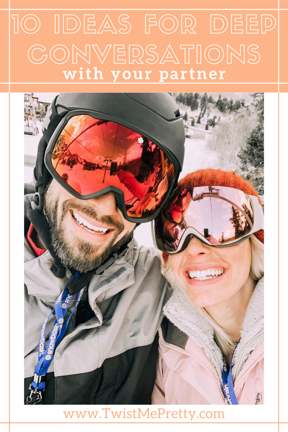 10 ideas for deep conversations with your partner. www.twistmepretty.com