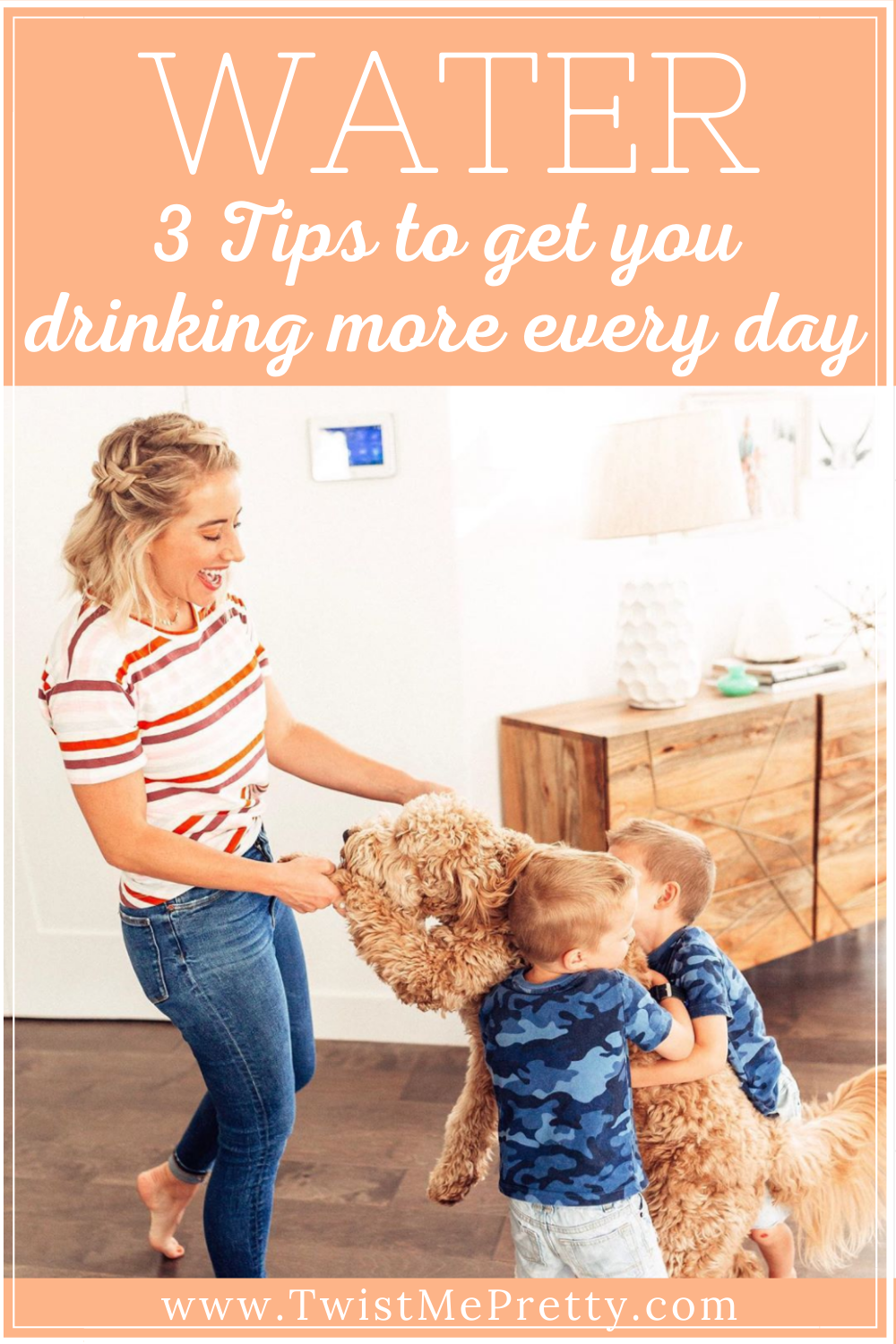 My 3 tricks to get you drinking more water every day! www.twistmepretty.com