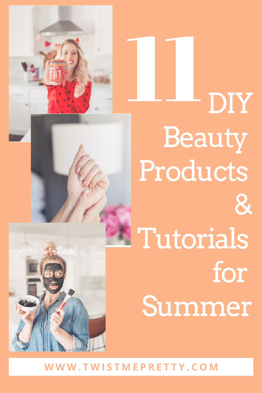 11 diy beauty products and tutorials for summer. www.twistmepretty.com