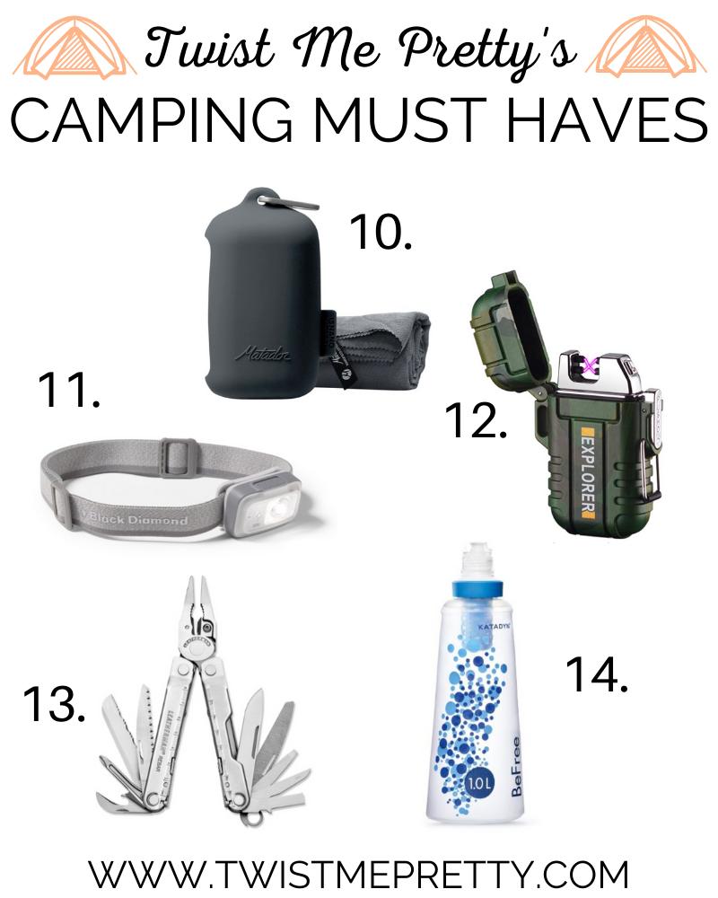 Twist Me Pretty's Camping Gear Must Haves www.TwistMePretty.com