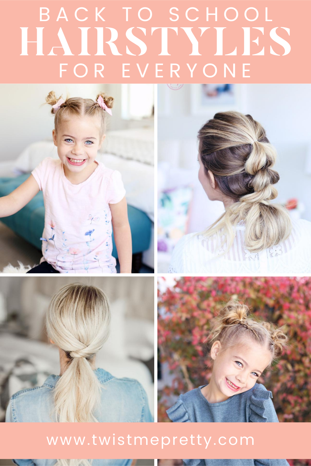 Back to School Hairstyles for Everyone www.twistmepretty.com