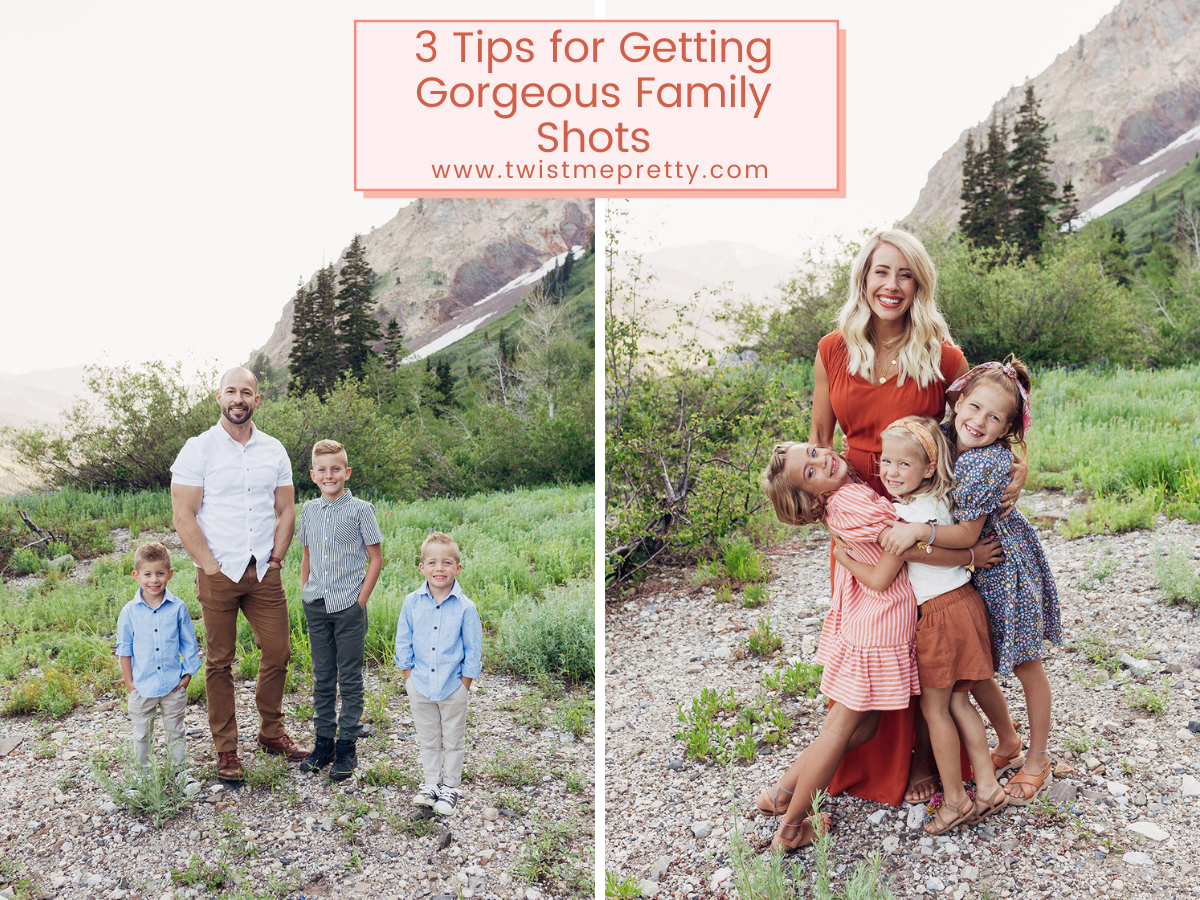 3 Tips for Getting Gorgeous Family Photos www.twistmepretty.com