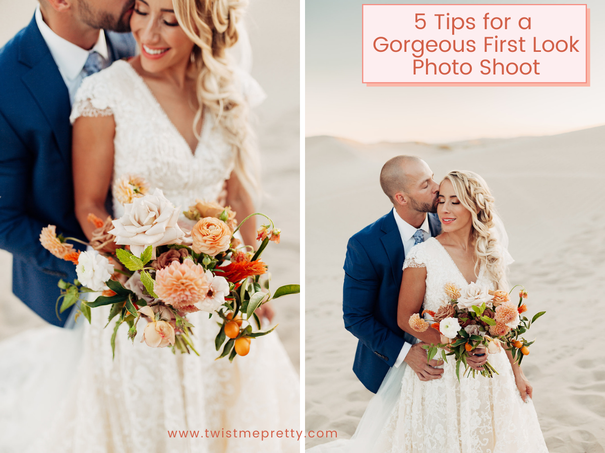 5 Tips for a Gorgeous First Look Photo Shoot www.twistmepretty.com