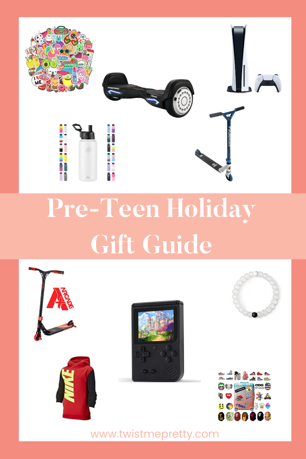 A complete roundup of all of the best gifts for your pre-teen. www.twistmepretty.com