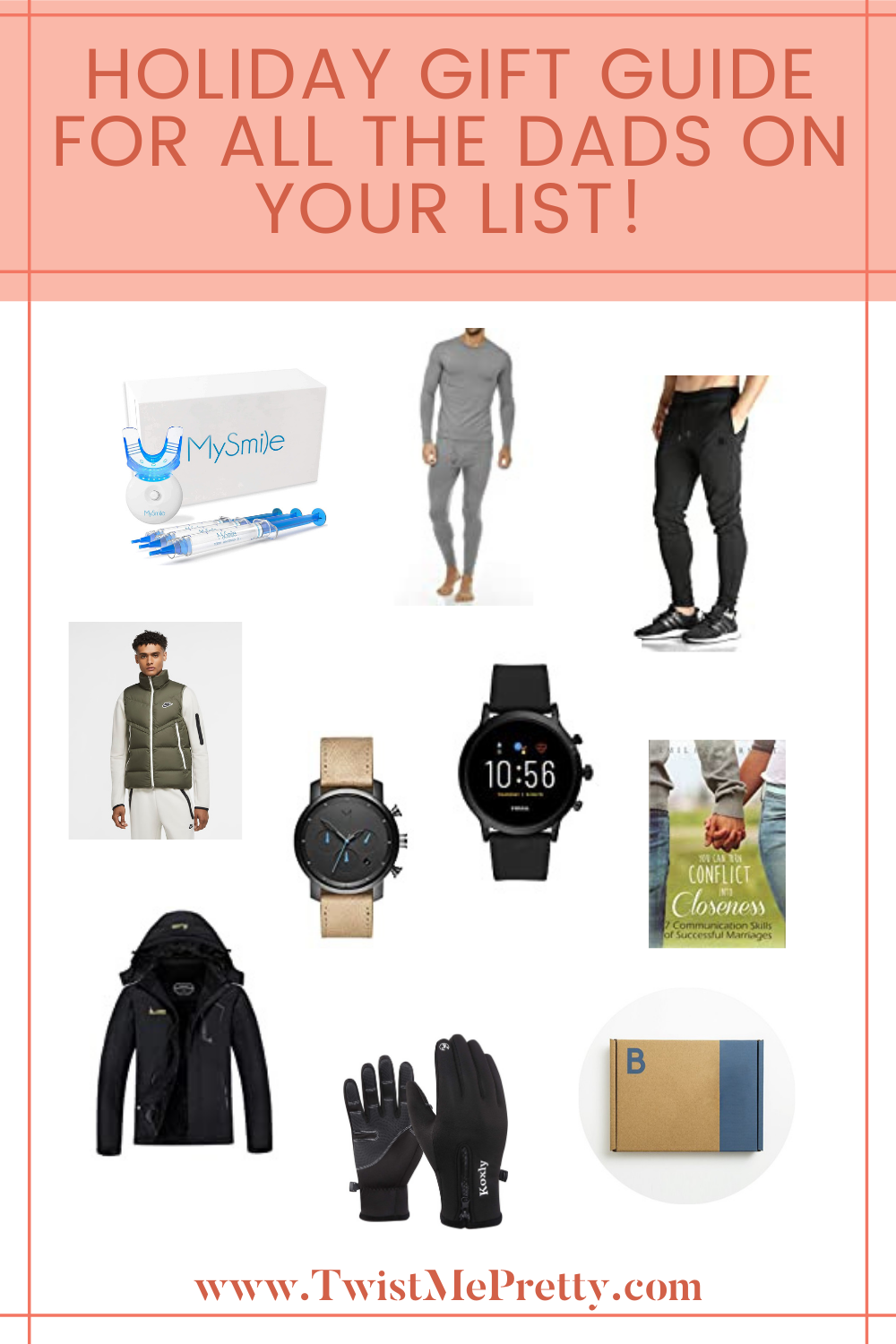 Holiday Gift Guide for Dads. www.twistmepretty.com