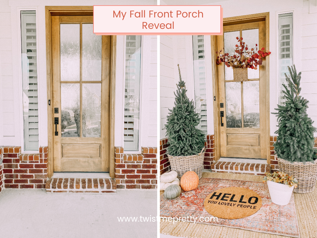My fall front porch reveal www.twistmepretty.com