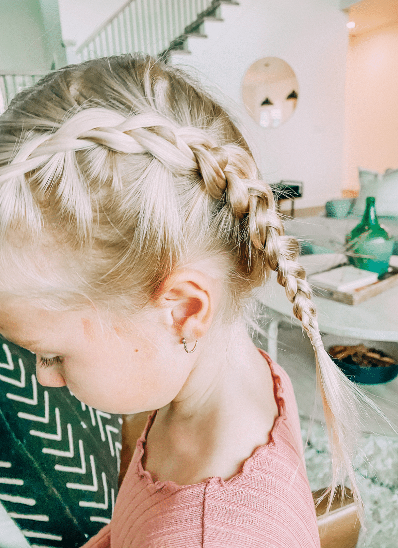 I love how these easy boxer braids look on my step daughter, Mollie. www.twistmepretty.com