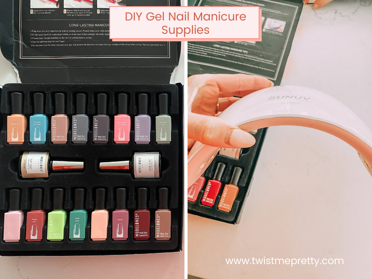 DIY Gel Nail Manicure Supplies www.twistmepretty.com