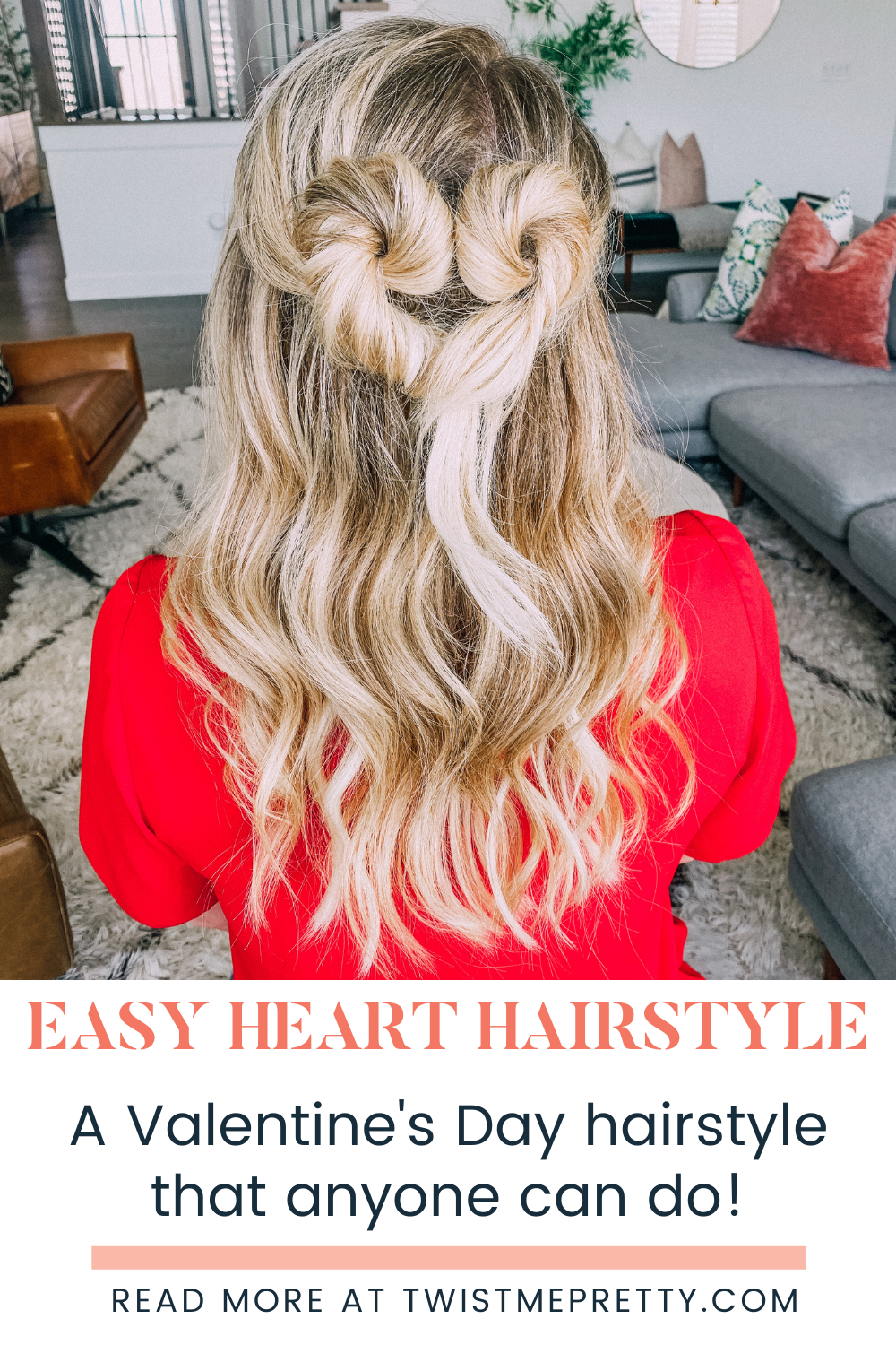 Easy Heart Hairstyle- A Valentine's Day hairstyle that anyone can do! www.twistmepretty.com